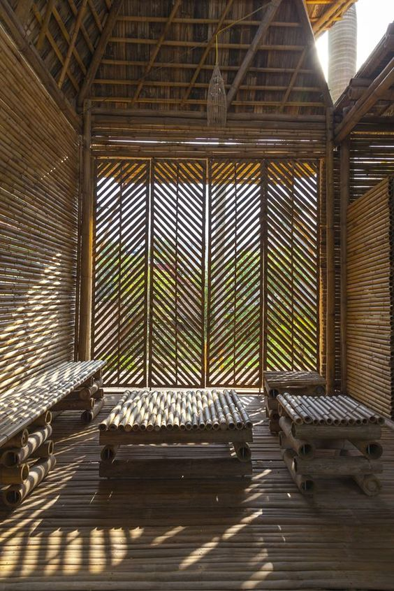 nice and natural bamboo room