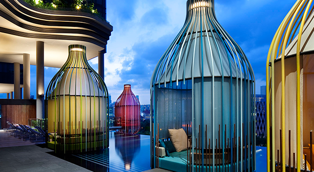 park royal hotel singapore, outdoor furniture design