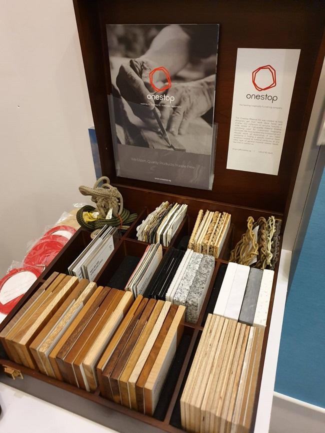 Material sample box at TTM 2019