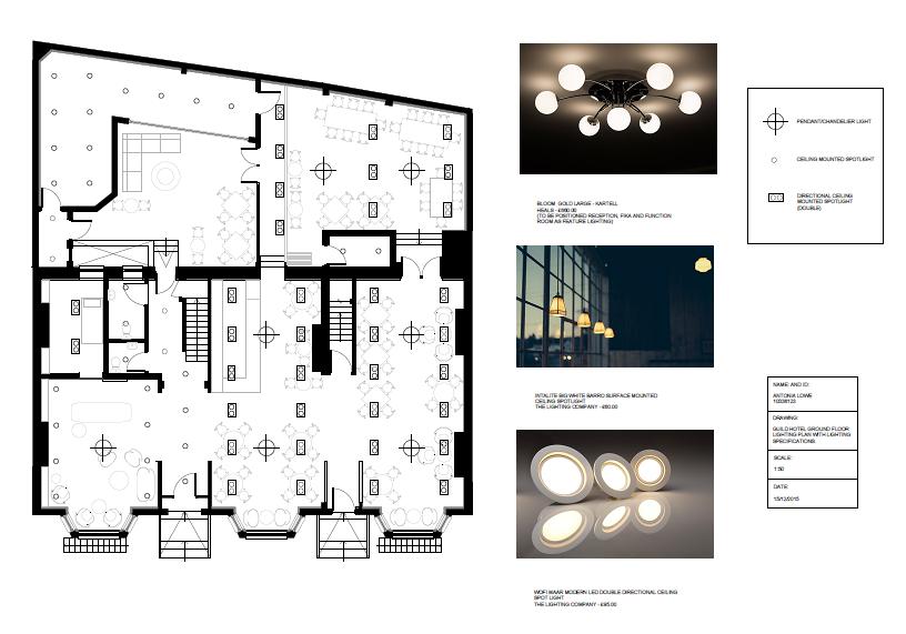 lighting plans for hotels
